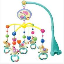 IFSO 601-2 Musical Baby Bed Bell. Baby Rattles with 14 Music, 360 Degrees Rotate Colorful carousel(China)