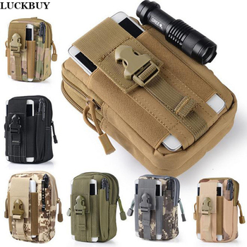 LUCKBUY Universal Outdoor Tactical Holster Military Molle Hip Waist Belt Bag Wallet Pouch Purse Phone Case with Zipper for 7Plus 1