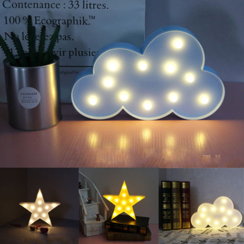 Cloud Type LED Night Light Warm Cloud-shaped Interior Decoration Lamp Bedroom Bedside Children Room Atmosphere Lamp Novelty Lamp