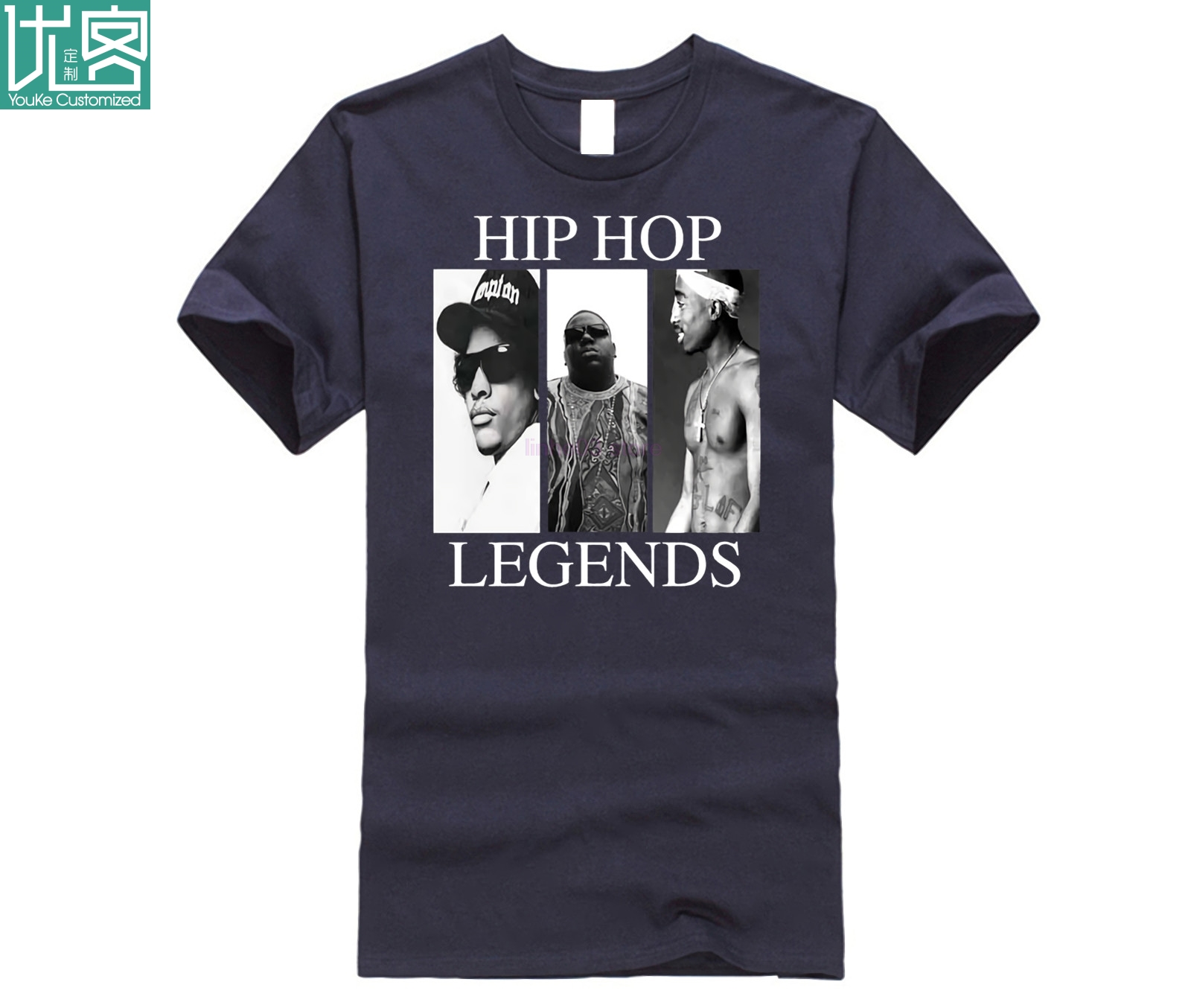 Hip Hop Legends NEW Graphic Mens T Shirt Compton 2 Pac Biggie Smalls Eazy E Tupac Top Tee Summer 100 Cotton Tshirts in T Shirts from Men 39 s Clothing