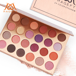 MAANGE Professional 24 Color Eyeshadow Powder Palette Matt Long Lasting Eye shadow Shimmer Powder Makeup Cosmetic TSLM2