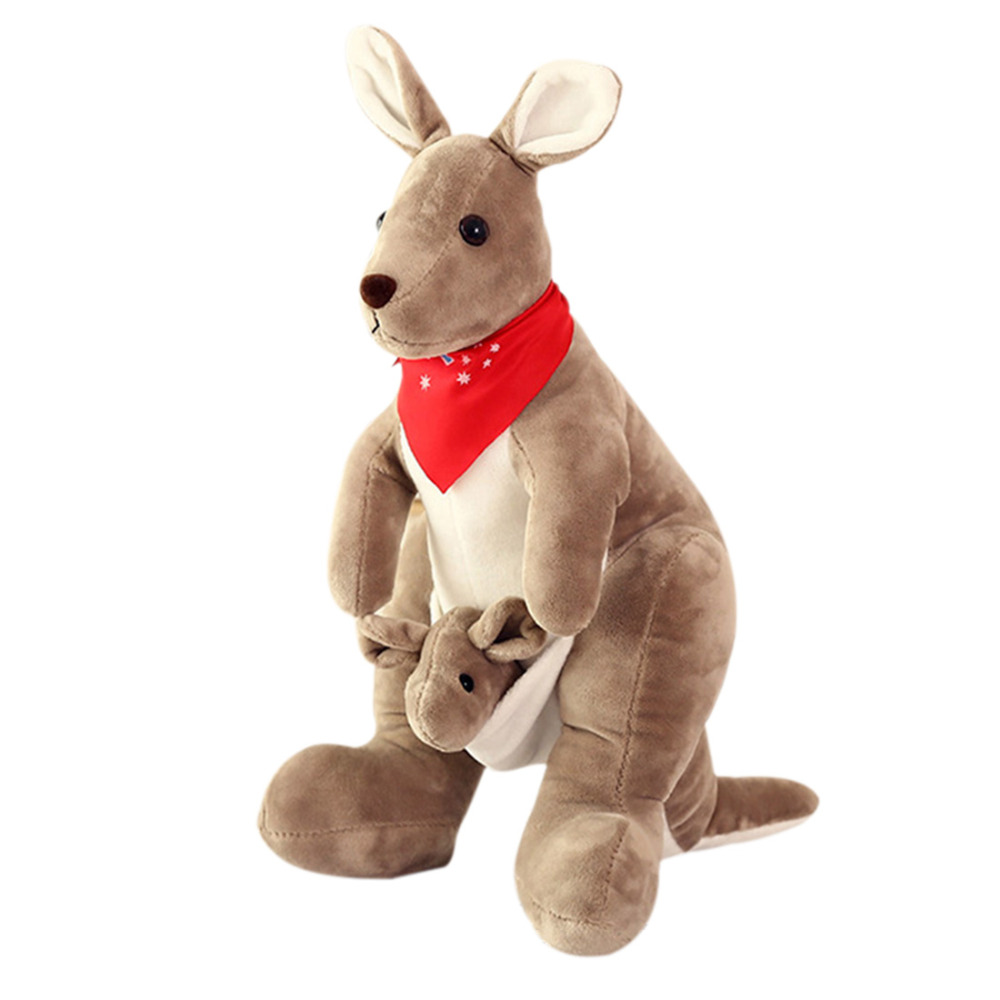 Kawaii Stuffed Toys 35cm/75cm Baby Australian Kangaroo Animal Plush Lovely Toy Cute Gift for Children Kids Stuffed Animal Toy