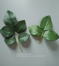 artificial leaves silk green leaf roses partner to make boutonnieres door wreaths wedding decoration