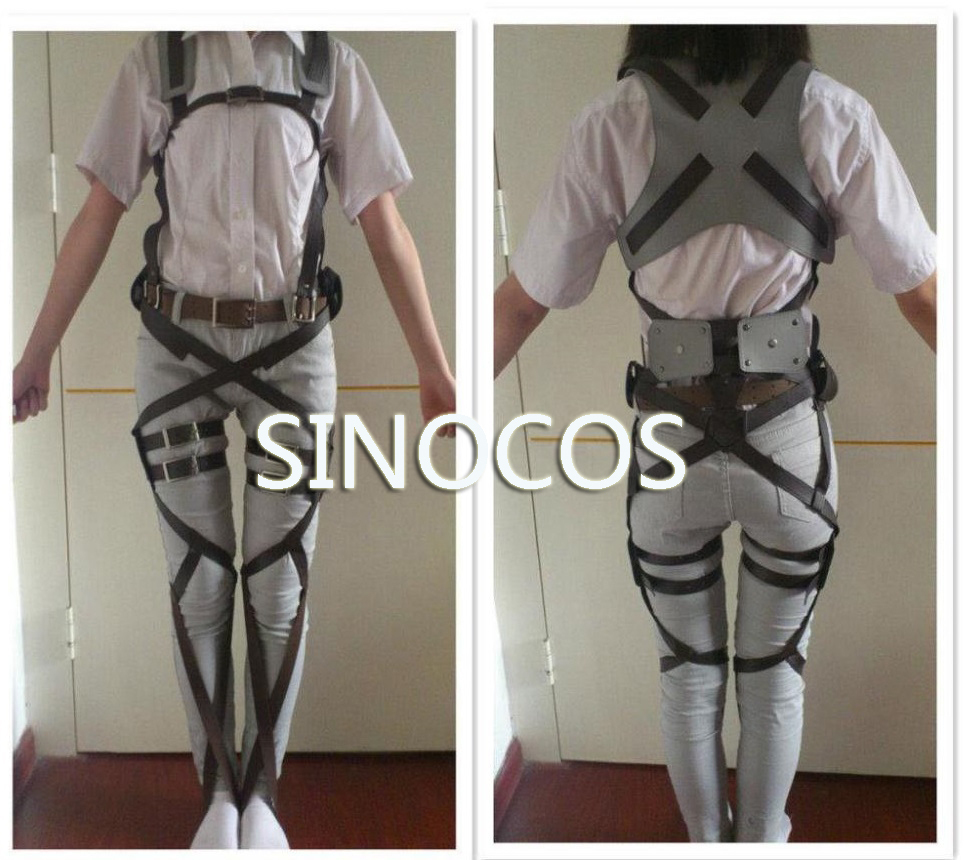 Attack on Titan Shingeki no Kyojin Recon Corps Harness belt hookshot Costume Adjustable Belts cosplay belts free shipping
