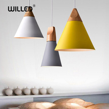 Pendant Lights bar Nordic combined real wood multicolor Aluminum lamp shade Lamp for dining room home lighting etc.