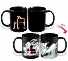 One Piece Affe D Luffy Becherschale Magie Keramik Kaffeetassen Heiß Kalt Wärmeempfindlicher Farbwechsel für freund geschenk
