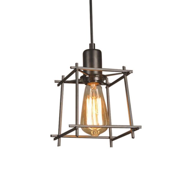 vintage industrial metal cage loft ceiling lamp edison pendant lights fixtures