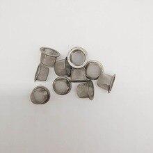 10PCS Quartz Crystal Smoking Pipes Wand Metal Filters Accessories