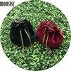 Monsisy 5PCS Winter Velvet Bucket Bag For Girl Shoulder Bag Baby Purse Handbag Children Wallet Metal