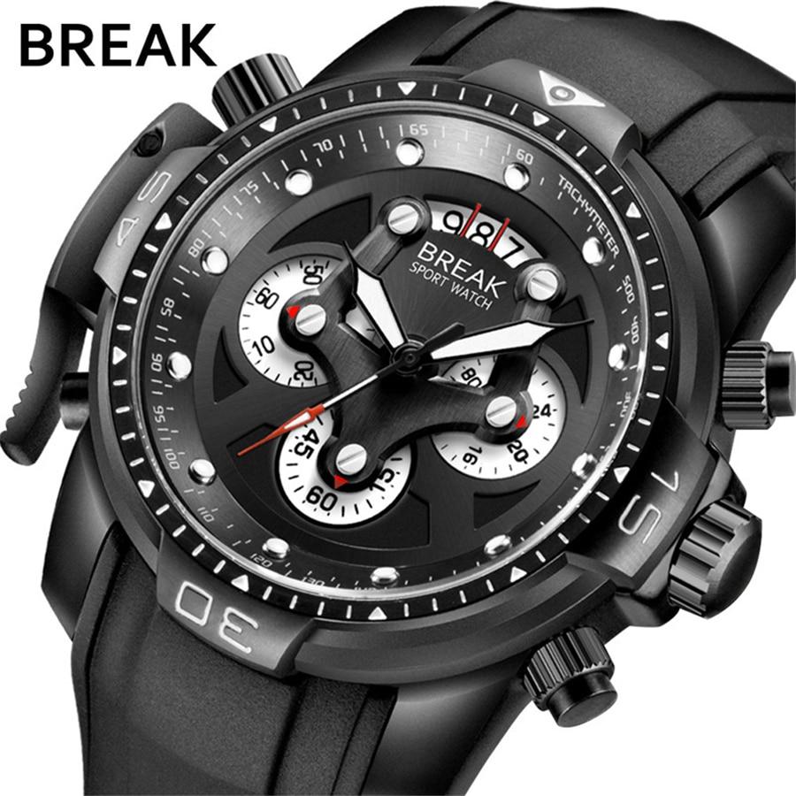 2018 NEW Luxury Brand Classic Design Big Dial Men Waterproof Sport Watches Men's Quartz Clock Man Army Military Wrist Watch brand design 2016 new man