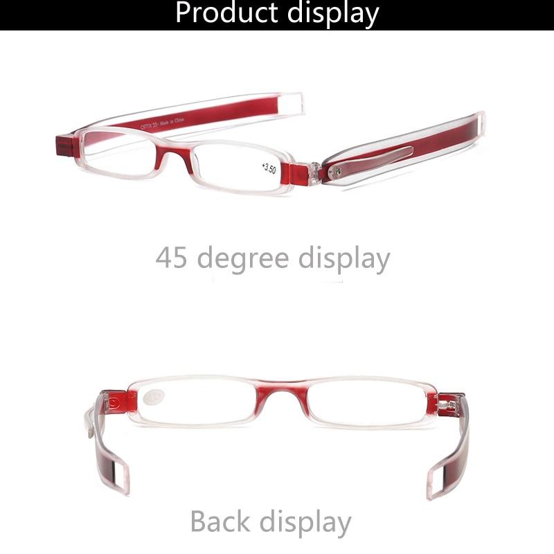 Folding Reading Glasses 360 Degree Rotation Presbyopic Foldable Reading Glasses Men Women with case 1.0 1.5 2.0 2.5 3.0 3.5 4.0 1