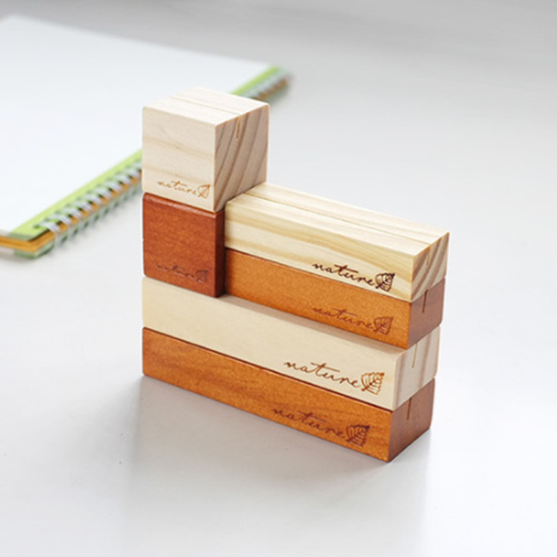 Creative Wooden Office Pictures Photo Clip Holder Note Paper Holder Memo Card