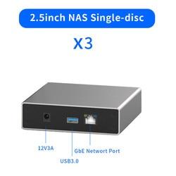 Gigabit Ethernet NAS HDD Behuizing Smart HDD Case met Remote Access Schijf 2.5 ''SATA Harde Schijf