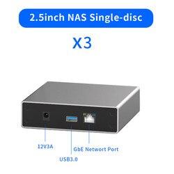 Gigabit Ethernet NAS HDD Kandang Smart Case HDD Dengan Akses Remote Disk 2.5 Inci SATA Hard Disk