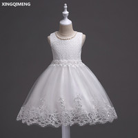In Stock White Tulle Lace Flower Girl Dresses 3 12Y Short First Holy Communion Dresses For