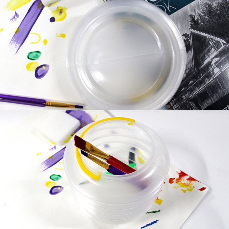 Ptable, pinceles para pintar plegables, estuche de limpieza, cubo para pluma de lavado