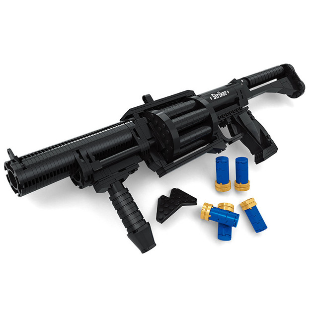 Ausini Military Series Striker Chardonnay Shotgun Model Toys Building Blocks Sets Educational DIY Compatible With Legoe 373PCS