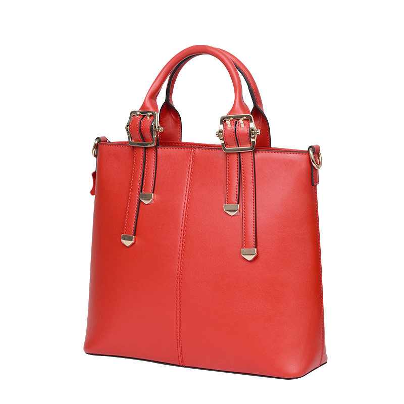 Genuine Leather Fashion Ladies font b Handbag b font Retro Trendy Cowhide Crossbody Bag Belt Buckle