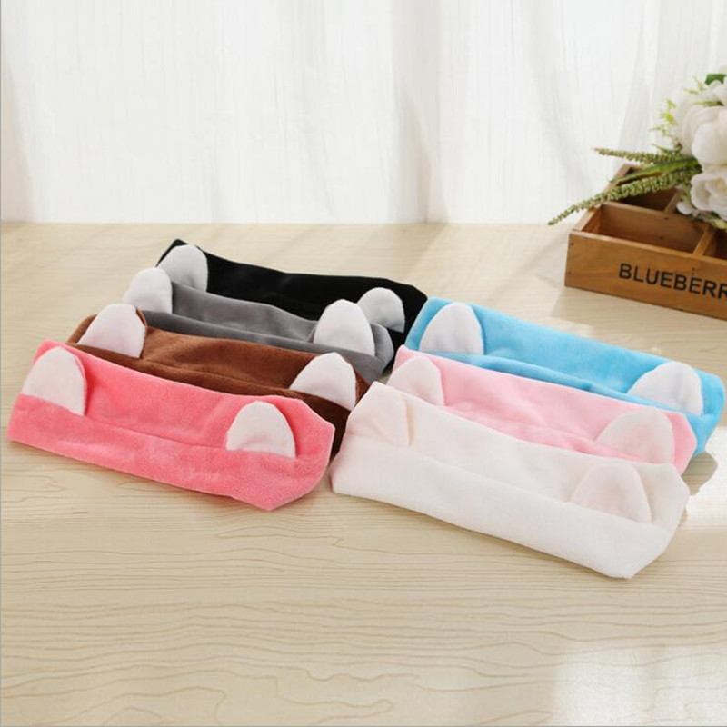 Colorful Lovely Cat Ear Headband Women Girls Princess Headwear Washing Face  Make Up Hair Band Bathroom