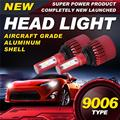 Auxmart 9006 80W LED Car Headlight Bulb Hi lo Beam SMD CREE Chips 9600LM 6500K Auto Headlamp Fog Light 12v 24v