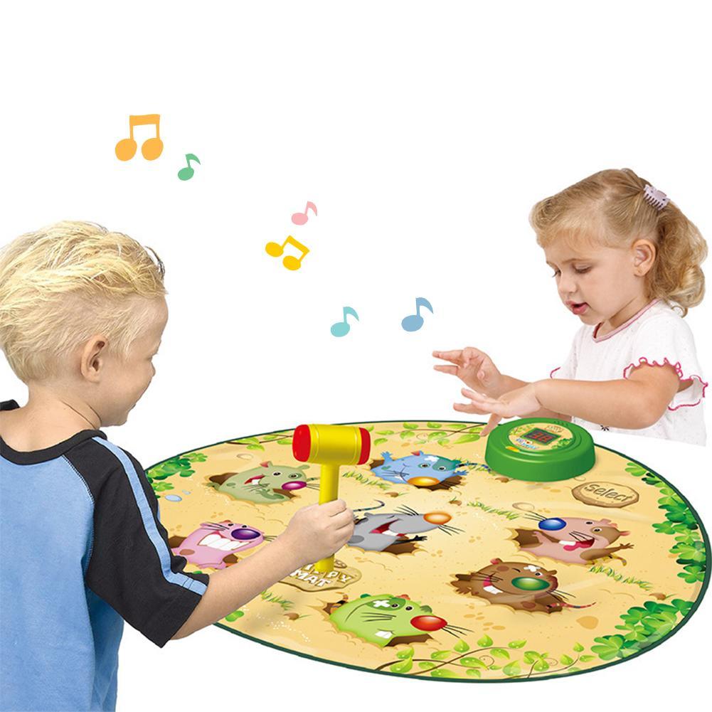 Jouet pour enfants Whac un jeu de taupe tapis de danse Puzzle tapis de musique tapis de jouet de musique pour enfants jeu de tambour électronique cadeaux d'anniversaire pour les enfants