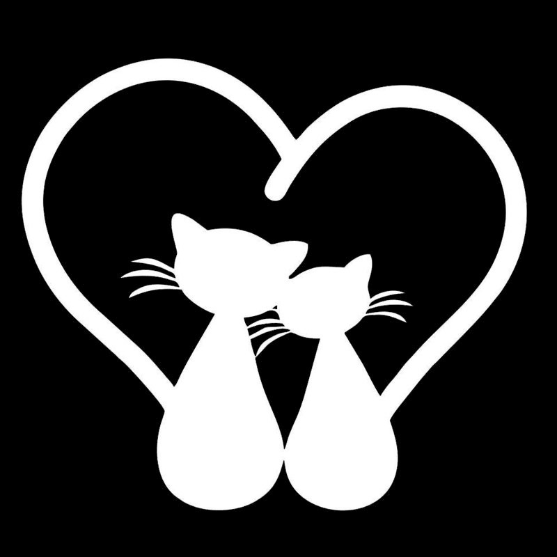 Cat Lovers Car Sticker
