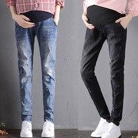 Maternity Women's Super Stretch Secret Fit Belly Straight Leg Denim Jean High waist Pregnancy Pants Winter Maternity clothing
