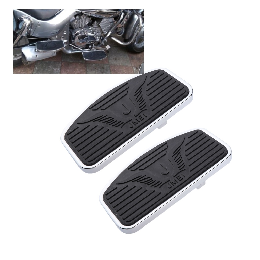 Pair Black Motorcycle Foot Pegs Bracket Rider Footboard For Honda Suzuki Motorcycle Rear Passenger Footrest