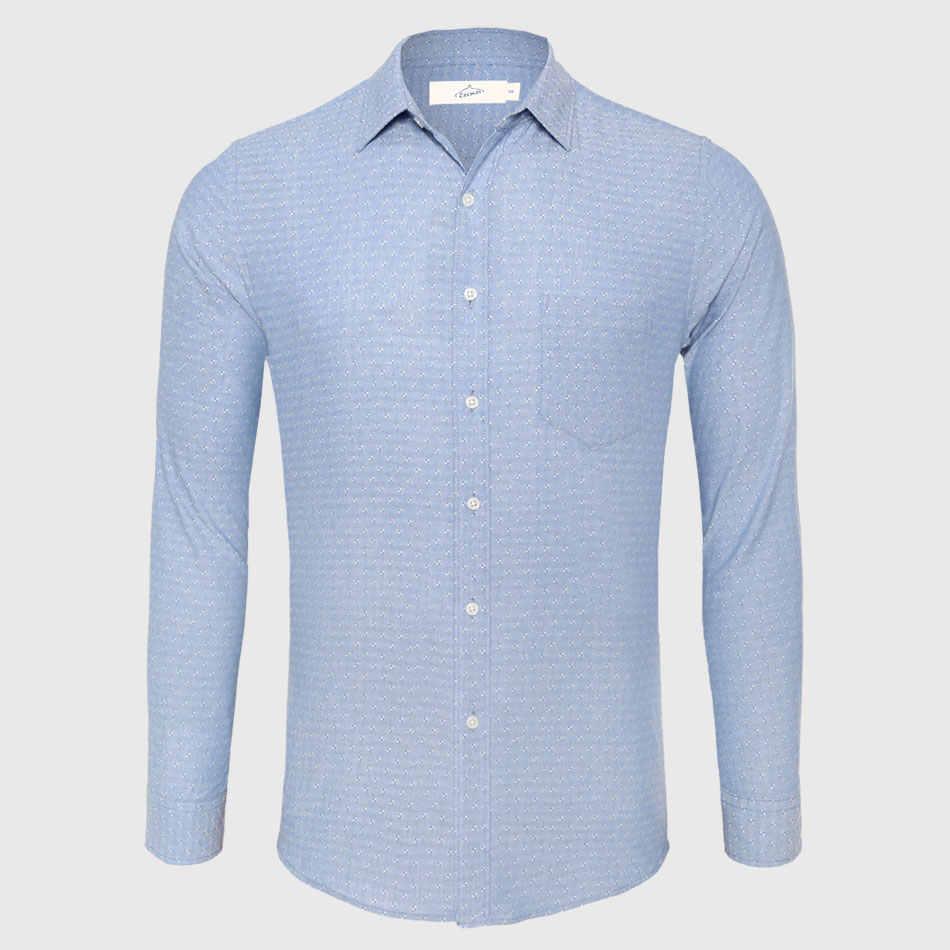 c1e77dfd4c9c8bc Повседневная рубашка Для мужчин хлопок белье точка и пуговицы Подпушка рубашка  мужской Slim Fit с длинным