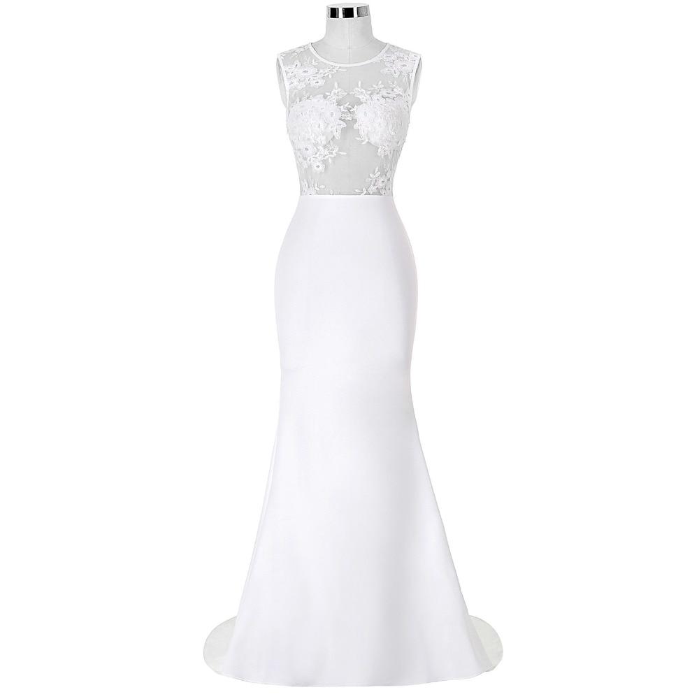 ⓪2017 blanco vestido de verano mujeres sin mangas o-cuello Bordado ...