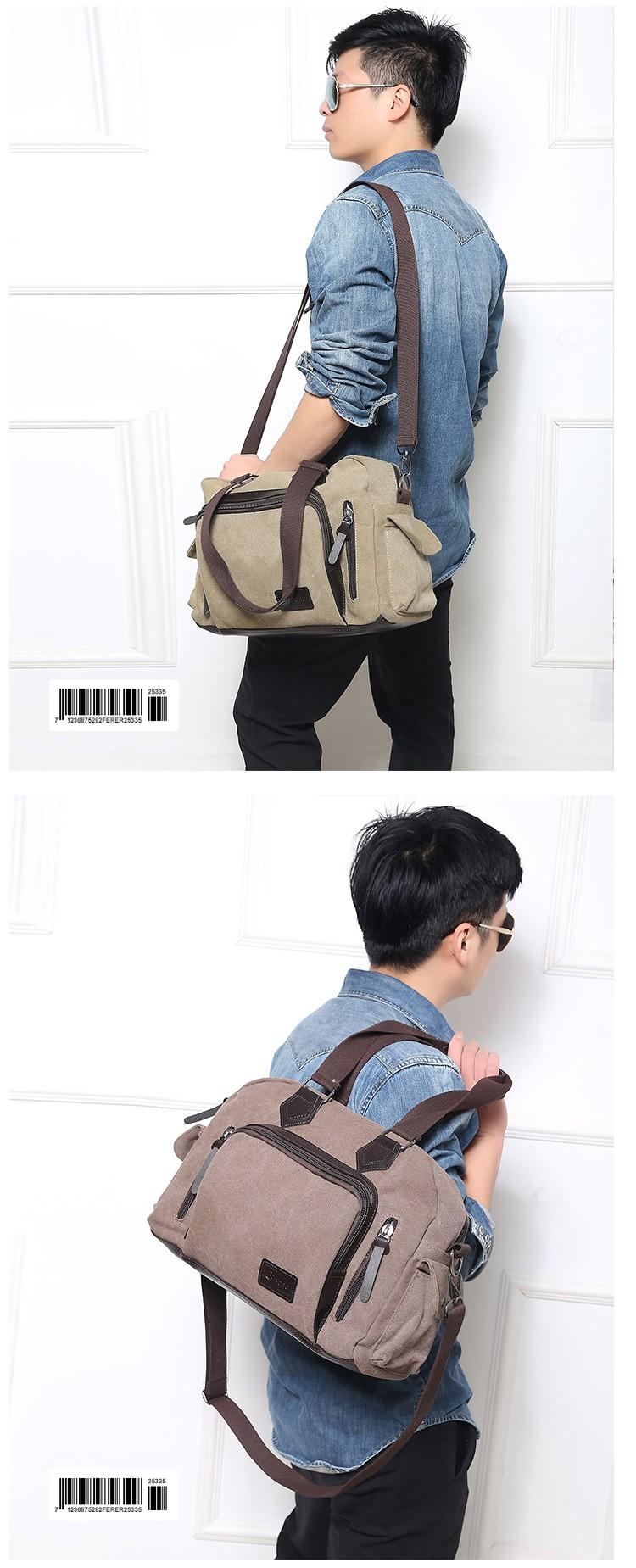 2016 men\'s travel bag canvas men messenger bag brand men\'s bag vintage style briefcase,Travel Shoulder bag (14)