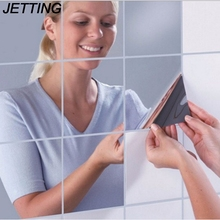 JETTING 9Pcs New Arrival High Quality Square Mirror Tile Wallpapers 3D Decal Hom