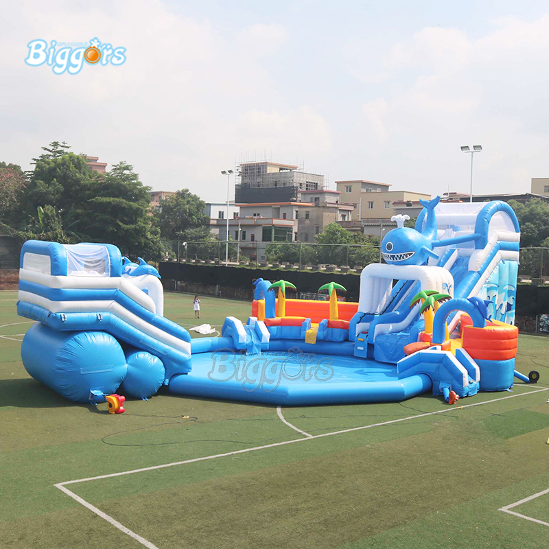 Giant Inflatable Water Park Inflatable Slide and pool outdoor amusement equipment with blower and pool