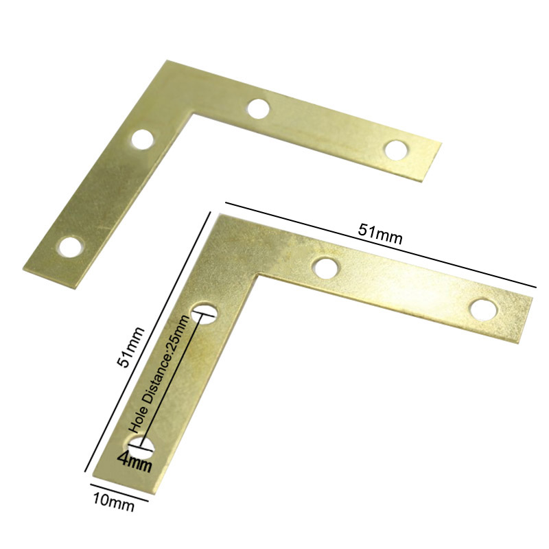 HOT 100PCS/LOT 51*51*10mm Gold L-shaped Metal Corn...
