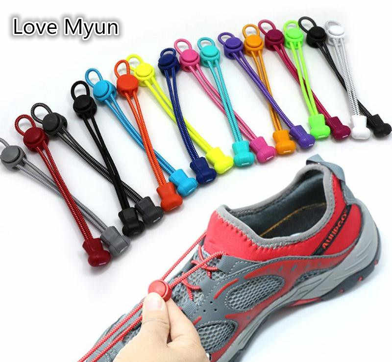 Unisex Sneaker Shoelaces Elastic Stretching Lock Shoelaces Sports Casual Shoe Laces Rope Cord String Black White Brown Blue Red