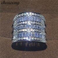 Choucong ценные Для женщин jewelry 5A Циркон CZ 925 серебро Обручение обручальное кольцо для Для женщин Sz 5 11