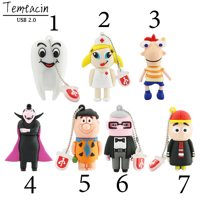 Vampire Tooth Doctor Nurse PenDrive USB 2.0 Flash Memory Pen Drive Stick 4 GB 8 GB 16 GB 32 GB 64 GB Dentista USB Flash Drives Thumb