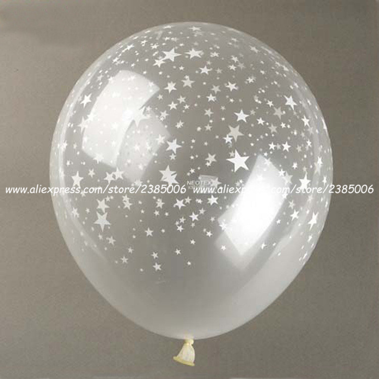 10pcs/lot 12inch Grams Stars Printing Latex Ball Holiday Wedding Wedding Room Decoration Atmosphere Elegant And Sturdy Package Home & Garden
