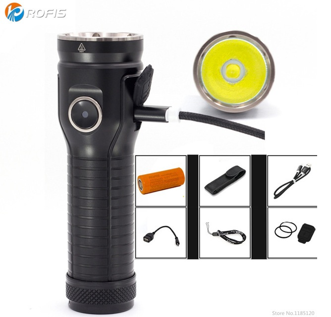 Rofis MR70 CREE XP-G2 Neutral White 3500 Lumens Micro-USB Rechargeable LED Flashlight