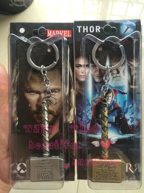 3 color avengers marvel thor s hammer keychains thor stainless