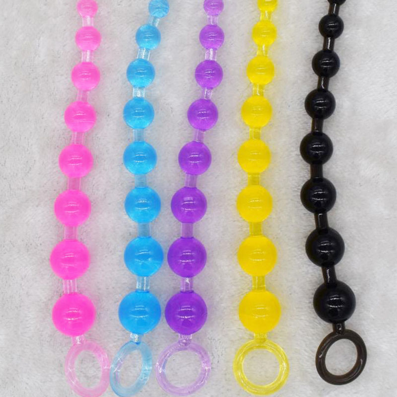 Anal Stimulator Ball Beads <font><b>Butt</b></font> <font><b>Plug</b></font> & Mini Bullet Vibrator Masturbation Adult <font><b>Sex</b></font> <font><b>Toys</b></font> Products for Women Men Gay Couple image