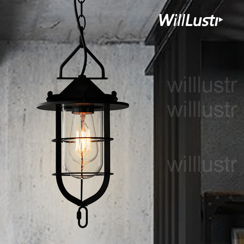 Willlustr metal dock suspension lamp iron frame glass pendant light hotel hall restaurant dinning living room hanging lighting купить