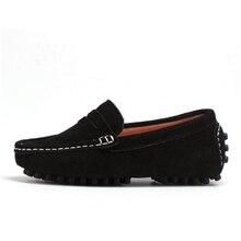 גודל 27 39 באמת עור ילדי ילד של הילדה תינוק נעליים להחליק על ופרס דירות אביב ובסתיו אופנה נעלי ספורט לילדים גדולים