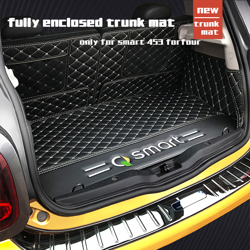 Waterproof Leather Material Car Rear Mat Trunk For Smart 453 Forfour Smart 2013 2014 2015 2016 2017 2018 2019