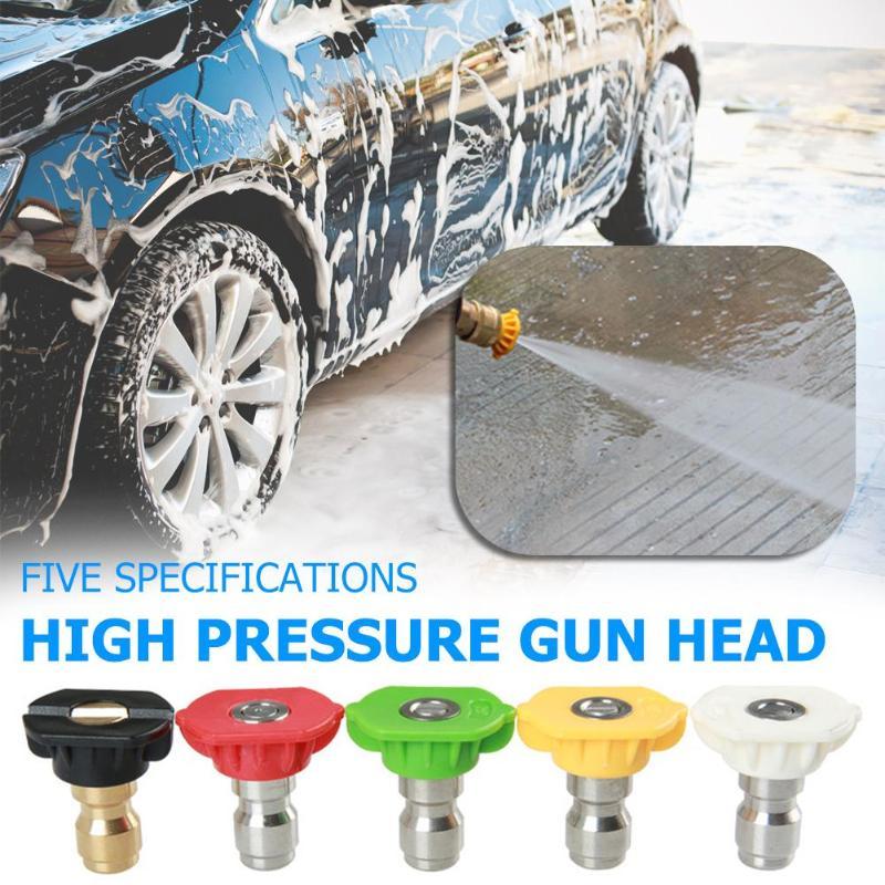 5Pcs 250 BAR High Pressure Washer Nozzles Snow Foam Lance Spray Nozzle Tip 0-60 Degree Wash Gun Nozzle for Car Washer Nozzles