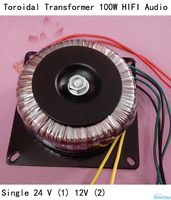 Toroidal Transformer 100W HIFI Audio Amplifier Dedicated Single 24V &12V 100W 1969 Small Class A Amp DIY