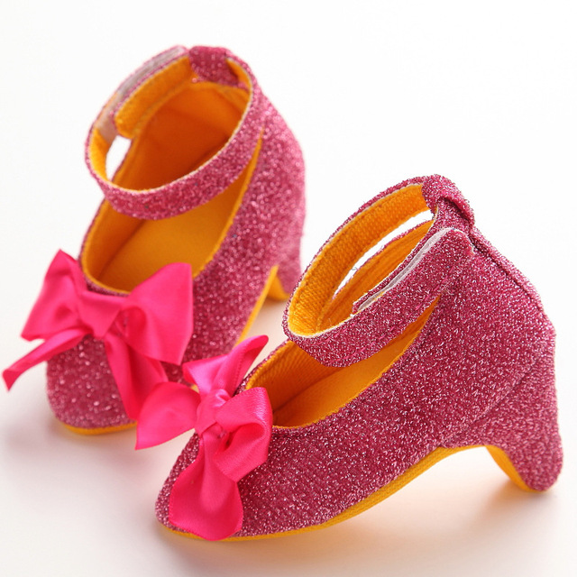 7679029ab Cute Baby Girls High heeled Shoes For 0 6M Newborn Photo Props ...