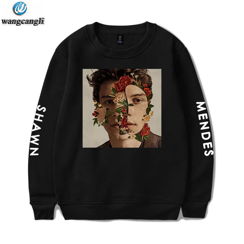 Hoodie Autumn Sweatshirts Jacket Pullovers Shawn Mendes Hip-Hop Girls Long-Sleeve Print