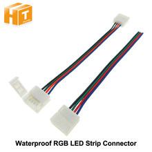 Conector de soldadura gratis para tira de LED RGB impermeable 4pin 10mm 5 unids/lote.(China)