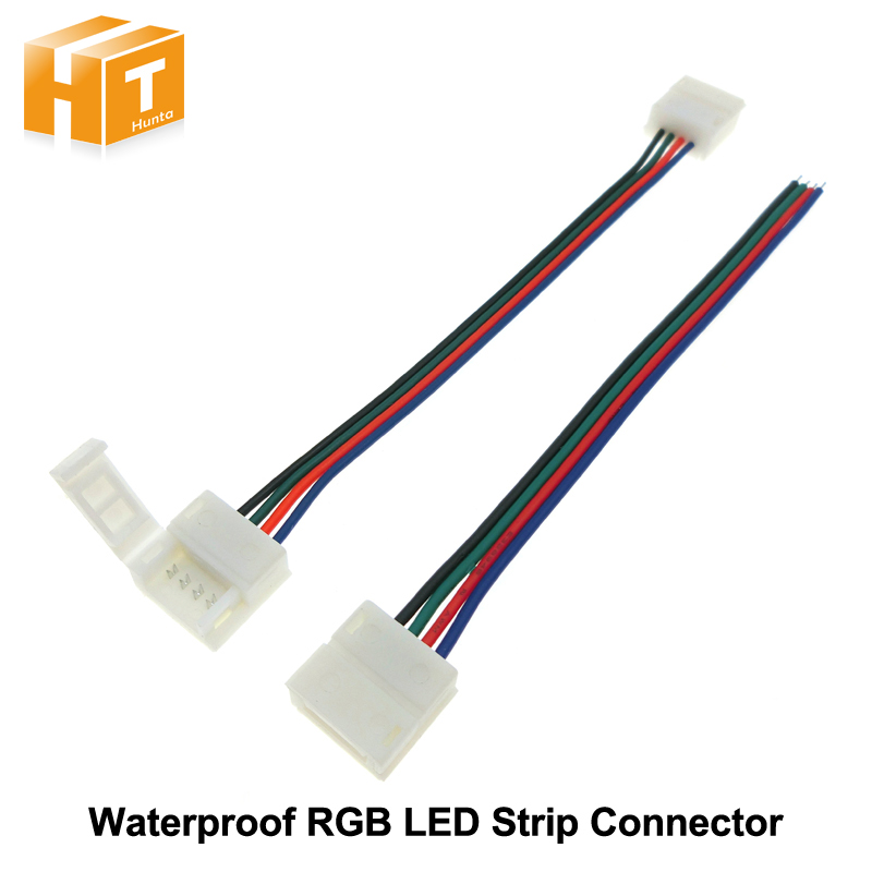Free Welding Connector for Waterproof RGB LED Strip 4pin 10mm 5pcs/lot. letter print raglan hoodie